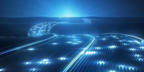 Daten Transfer Highway Infrastruktur