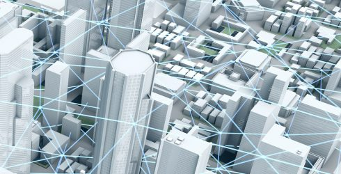 Smart City  Panorama: Smart Grids Illustration